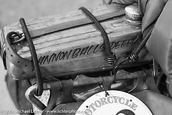 Craig Jackman's 1936 HD VLH Twin Carb during Stage 13 (257 miles) of the Motorcycle Cannonball Cross-Country Endurance Run, which on this day ran from Elko, NV to Meridian, Idaho, USA. Thursday, September 18, 2014.  Photography ©2014 Michael Lichter.
