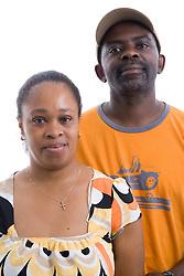 Portrait of a couple in the studio,