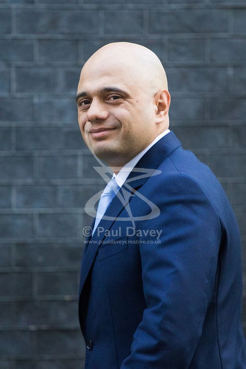 Downing Street, London, March 21st 2017. Communities and Local Government Secretary Sajid Javid attends the weekly cabinet meeting at 10 Downing Street.