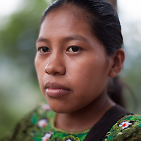 Modesta, a young Q'eqchi woman in Concepción Actelá, Alta Verapaz.