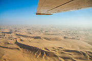 Airplane view of the Namib Desert, Namibia, Africa