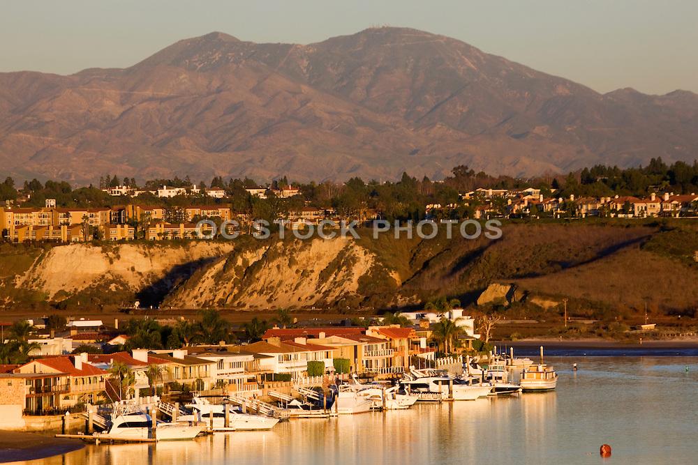 Boats Docked In The Back Bay At Newport Beach Orange County, California