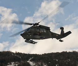 25.02.2010,  Lavanter Forcha, Lavant, AUT, Bundesheer Übung, im Bild S 70 Black Hawk, des österreichischen Bundesheeres, im Flug, EXPA Pictures © 2010, PhotoCredit: EXPA/ J. Feichter / SPORTIDA PHOTO AGENCY.