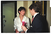 Ghislaine Maxwell, Charlie Butters, Theo Fennell store party. South Kensington. London. 7 November 1996.