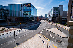 Eyre Street Sheffield left almost deserted after Cafes Bars and shops close in to try and stem the spread of the Coronavirus<br /> Monday 22 March 2020<br /> <br /> www.pauldaviddrabble.co.uk<br /> All Images Copyright Paul David Drabble - <br /> All rights Reserved - <br /> Moral Rights Asserted -