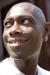 Portrait of a black man smiling,