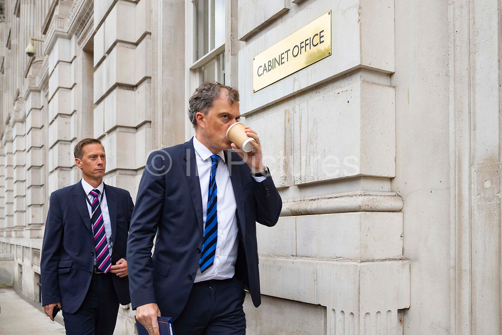 Julian Smith, Secretary of State for Northern Ireland arriving at the Cabinet Office in London, United Kingdom on 10th September 2019.