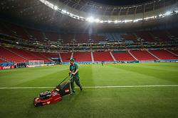 Preparativos para o treino do Brasil antes da partida contra Camarões, válida pela terceira rodada do Grupo A da Copa do Mundo 2014, no Estádio Nacional Mané Garrincha, em Brasília-DF. FOTO: Jefferson Bernardes/ Agência Preview