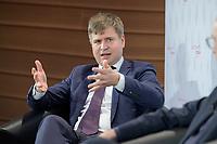"""08 JUN 2021, BERLIN/GERMANY:<br /> Mikko Huotari, Direktor MERICS, Mercator Institute for China Studies, Wirtschaftskonferenz, Wirtschaftsforum der SPD """"Post-Coronomics - Transformation, Wachstum, Beschäftigung"""", Axica Kongresszentrum<br /> IMAGE: 20210608-01-168"""