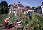 Pennsbury Manor, Home of William Penn, Philadelphia, Pennsylvania English garden,