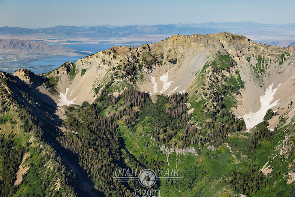 Looking over Cascade Mountain with Utah Lake in the background