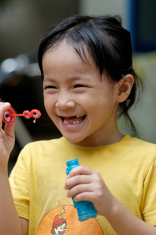 A girl who is HIV positive in the Little Sprouts Orphanage run by Maryknoll missioners in Phnom Penh, Cambodia.