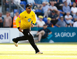 Gloucestershire's Kieran Noema-Barnett in action today <br /> <br /> Photographer Simon King/Replay Images<br /> <br /> Vitality Blast T20 - Round 8 - Glamorgan v Gloucestershire - Friday 3rd August 2018 - Sophia Gardens - Cardiff<br /> <br /> World Copyright © Replay Images . All rights reserved. info@replayimages.co.uk - http://replayimages.co.uk