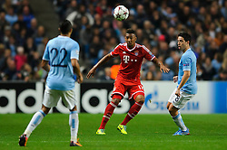 Bayern Defender Jerome Boateng (GER) in action during the second half of the match - Photo mandatory by-line: Rogan Thomson/JMP - Tel: Mobile: 07966 386802 - 02/10/2013 - SPORT - FOOTBALL - Etihad Stadium, Manchester - Manchester City v Bayern Munich - UEFA Champions League Group D.