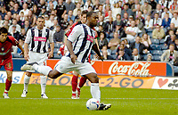 Photo: Ed Godden.<br />West Bromwich Albion v Colchester United. Coca Cola Championship. 19/08/2006. Nathan Ellington opens the scoring for Albion with a penalty.