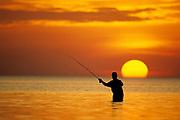 Fly Fisherman in the Florida Keys.