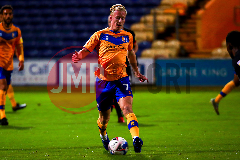 Harry Charsley of Mansfield Town on the ball - Mandatory by-line: Ryan Crockett/JMP - 06/10/2020 - FOOTBALL - One Call Stadium - Mansfield, England - Mansfield Town v Lincoln City - Leasing.com Trophy
