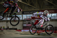 #1 (KIMMANN Niek) NED at the 2016 UCI BMX Supercross World Cup in Manchester, United Kingdom<br /> <br /> A high res version of this image can be purchased for editorial, advertising and social media use on CraigDutton.com<br /> <br /> http://www.craigdutton.com/library/index.php?module=media&pId=100&category=gallery/cycling/bmx/SXWC_Manchester_2016