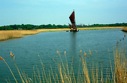 AREJXA Sailing barge Cygnet River Alde Snape Suffolk England