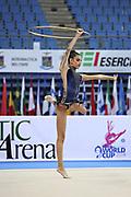 Korina Alevrogianni Greek athlete at the World Cup in Pesaro 2014.