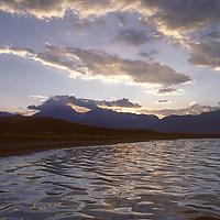 MONO LAKE, CALIFORNIA. Sunrise over lake.