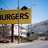 The road to Faraya, Lebanon.