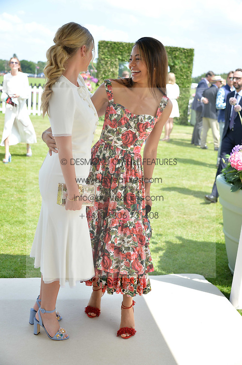 Lady Kitty Spencer and Viscountess Weymouth at Cartier Queen's Cup Polo, Guard's Polo Club, Berkshire, England. 18 June 2017.<br /> Photo by Dominic O'Neill/SilverHub 0203 174 1069 sales@silverhubmedia.com