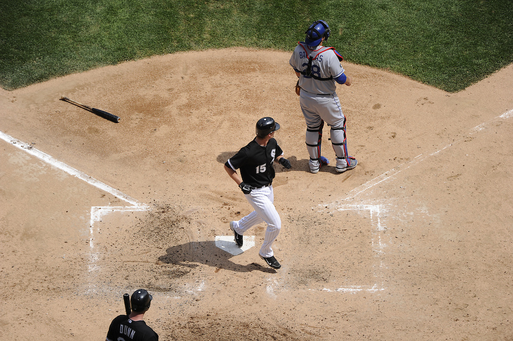 CHICAGO - MAY 22:  Gordon Beckham #15 of the Chicago White Sox crosses home plate against the Los Angeles Dodgers on May 22, 2011 at U.S. Cellular Field in Chicago, Illinois.  The White Sox defeated the Dodgers 8-3.  (Photo by Ron Vesely)  Subject:   Gordon Beckham