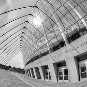 Front of the Kauffman Center for the Performing Arts in Kansas City MO.