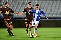Fotball ,19. september 2020 , Eliteserien , Sarpsborg - Mjøndalen  <br /> Tobias Heintz , S08<br /> Sondre Solholm Johansen<br /> Markus Nakkim , MIF