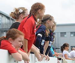 BAWFC fans watch the game - Photo mandatory by-line: Dougie Allward/JMP - Mobile: 07966 386802 - 28/09/2014 - SPORT - Women's Football - Bristol - SGS Wise Campus - Bristol Academy Women's v Manchester City Women's - Women's Super League