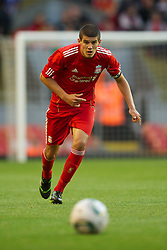 LIVERPOOL, ENGLAND - Wednesday, August 17, 2011: Liverpool's captain Conor Coady in action against Sporting Clube de Portugal during the first NextGen Series Group 2 match at Anfield. (Pic by David Rawcliffe/Propaganda)