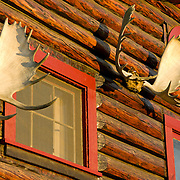 North America, United States, US, Northwest, Pacific Northwest, West, Alaska, Arctic Circle; Bettles Lodge north of the Arctic Circle in Bettles, Alaska.