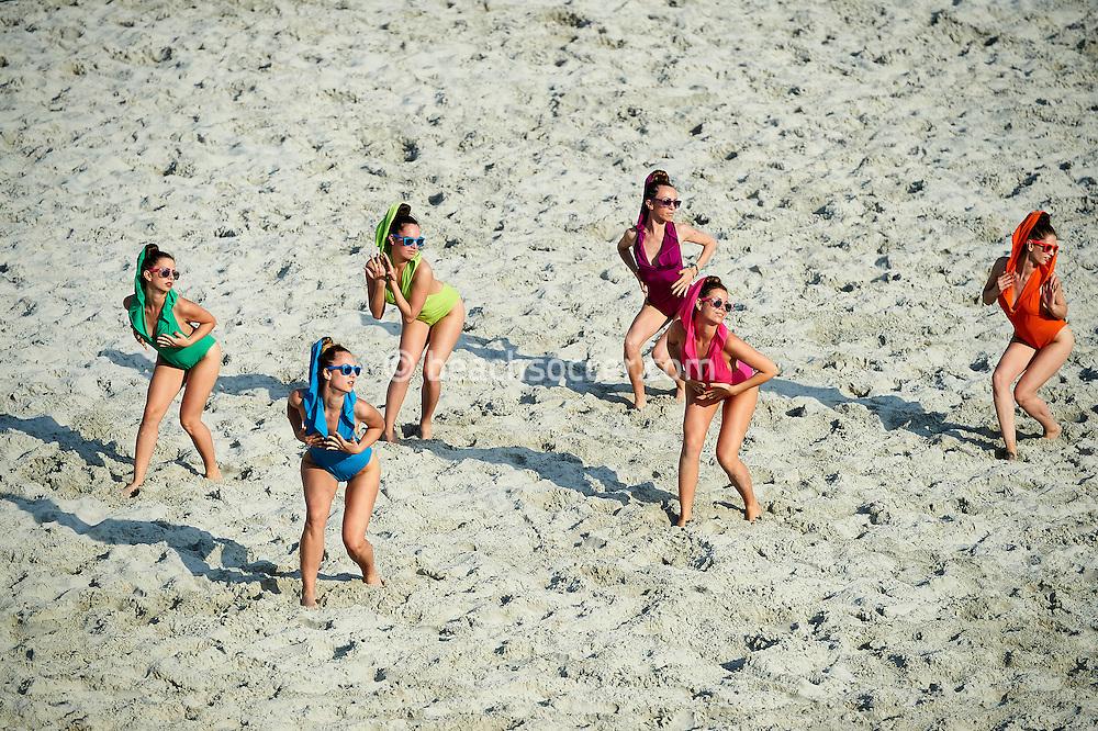 BELGRADE, SERBIA - JUNE 24:  Euro Beach Soccer Cup Belgrade at Ada Ciganlija on June 24, 2016 in Belgrade Serbia. (Photo by Manuel Queimadelos)