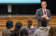 Houston ISD Trustee Greg Meyers comments during a Bond community meeting at Askew Elementary School, February 4, 2016.