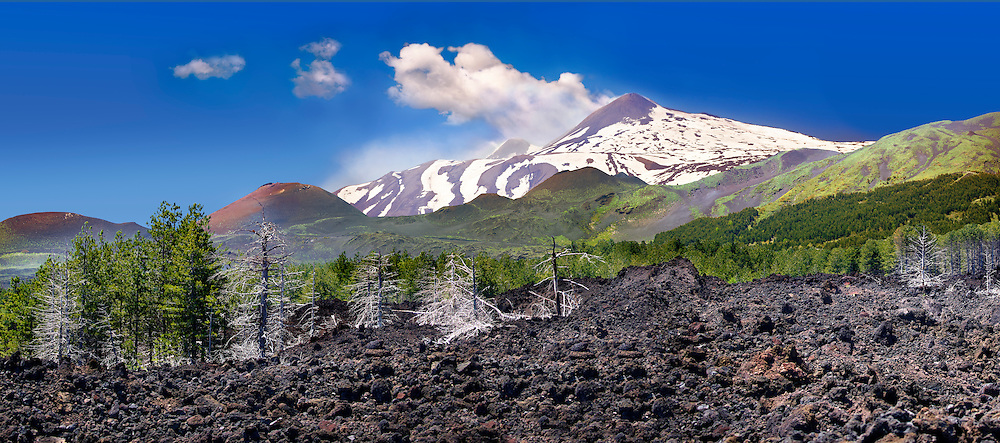 Volcanic ash on the slopes slopes of Mount Etna, active olcanic mountain , Sicily .<br /> <br /> Visit our SICILY HISTORIC PLACES PHOTO COLLECTIONS for more   photos  to download or buy as prints https://funkystock.photoshelter.com/gallery-collection/2b-Pictures-Images-of-Sicily-Photos-of-Sicilian-Historic-Landmark-Sites/C0000qAkj8TXCzro