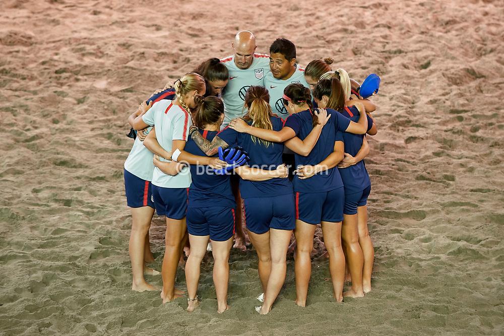 SAN SALVADOR, EL SALVADOR - AUGUST 02: USA Women's during the World Beach Games Qualifier at San Salvador on August 02, 2019 in San Salvador, El Salvador. (Photo by Mateo Villalba)