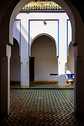 A small courtyard in the Bahia Palace in Marrakech, Morocco, North Africa<br /> <br /> <br /> <br /> (c) Andrew Wilson | Edinburgh Elite media