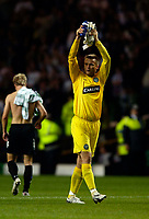 Photo: Jed Wee.<br /> Glasgow Celtic v FC Copenhagen. UEFA Champions League, Group F. 26/09/2006.<br /> <br /> Celtic goalkeeper Artur Boruc applauds the fans at the end of the game.