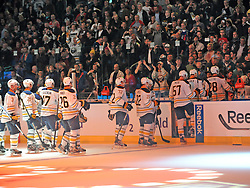 08.10.2011, O2 World, Berlin, Linz, GER, NHL, Buffalo Sabres vs LA Kings, im Bild the Buffalo Sabres leafs the rink in the o2 arena, during the Compuware NHL Premiere, O2 World Berlin, Berlin, Germany, 2011-10-08, EXPA Pictures © 2011, PhotoCredit: EXPA/ Reinhard Eisenbauer