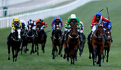 Envoi Allen ridden by jockey Jamie Codd (right) on the way to winning the Weatherbys Champion Bumper during Ladies Day of the 2019 Cheltenham Festival at Cheltenham Racecourse.