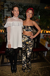 Laura Pradelska and Lara Fraser at The Ivy Chelsea Garden's Guy Fawkes Party, 197 King's Road, London, England. 05 November 2017.