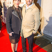 NLD/Amsterdam/20151119 - inloop Xite Awards 2015, Sol Wortelboer en partner Rosanne Elisabeth Boas