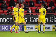 GOAL 1-2, AFC Wimbledon defender Dan Csoka (3) during the EFL Sky Bet League 1 match between Charlton Athletic and AFC Wimbledon at The Valley, London, England on 12 December 2020.