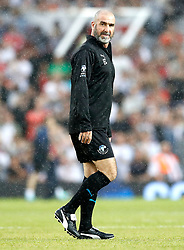 World XI's Eric Cantona warms up prior to the UNICEF Soccer Aid match at Old Trafford, Manchester. PRESS ASSOCIATION Photo. Picture date: Sunday June 10, 2018. See PA story SOCCER Aid. Photo credit should read: Martin Rickett/PA Wire.