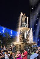 The Tyler Davidson Fountain on Fountain Square in Cincinnati