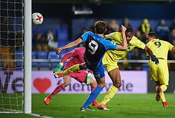 November 30, 2017 - Vila-Real, Castellon, Spain - Cedric Bakambu of Villarreal CF scores his second goal during the Copa del Rey, Round of 32, Second Leg match between Villarreal CF and SD Ponferradina at Estadio de la Ceramica on november 30, 2017 in Vila-real, Spain. (Credit Image: © Maria Jose Segovia/NurPhoto via ZUMA Press)