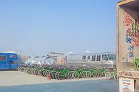 Pile o Yellow Bikes