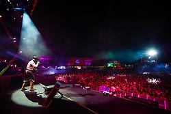 Gusttavo Lima durante a 25ª edição do Planeta Atlântida. O maior festival de música do Sul do Brasil ocorre nos dias 31 Janeiro e 01 de fevereiro, na SABA, praia de Atlântida, no Litoral Norte do Rio Grande do Sul. FOTO: <br /> Diego Vara/ Agência Preview