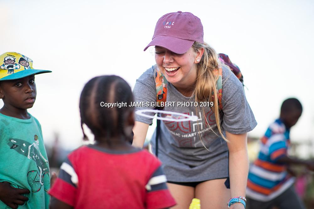 Camryn Matthaei <br /> <br /> St Joe mission trip to Belize 2019. JAMES GILBERT PHOTO 2019